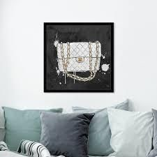 Oliver Gal Everything But My White Bag Canvas Art