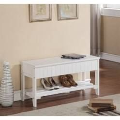 The Gray Barn Waggoner Solid Wood Shoe Bench