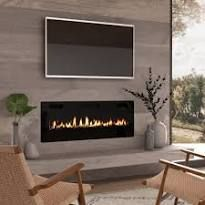 Ultra Thin Electric Fireplace Insert for Wall Mounted Installation
