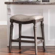 Copper Grove Barmstedt Brown Counter Stool w  Saddle