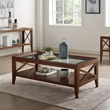 Furniture of America Hinz Transitional Solid Wood Coffee Table