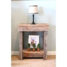 Brown Rustic End Table