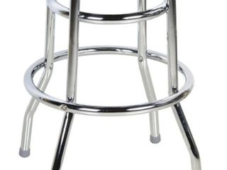 Offex Double Ring Chrome Metal Backless Barstool legs   Set of 3