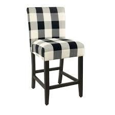 Porch  amp  Den Plaid Upholstered 24in Parsons Counter Stool