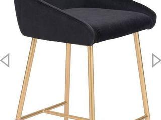 Mira Counter Chair Black 26 inch