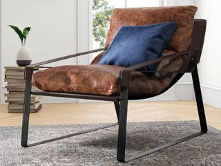 Dareau 30  Top Grain leather lounge Chair