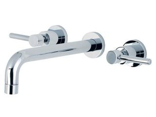 Kingston Brass Concord Double Handle Wall Mounted Tub Only Faucet