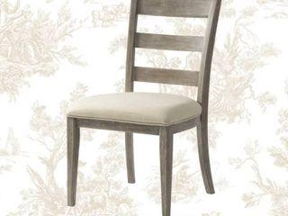Jarrett Upholstered ladder Back Side Chair in Driftwood set of 2