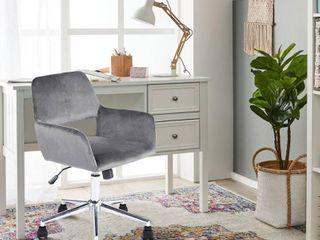 FurnitureR Multi Colors Velvet Fit up Office Chair  Ross Grey