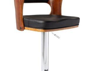 Mid Century Modern Wood  Metal Adjustable Swivel Barstool  Retail 98 32