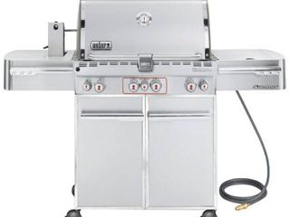 Weber Summit S 470 Natural Gas Grill Model 7270001   can be converted to propane Retail  2200 00