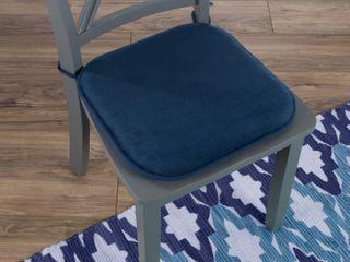 Set of 5   lavish Home 82 TEX1043NV Square Memory Foam Chair Cushion   Navy