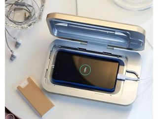 Phone Soap UV Sanitizer   Charger w  Phone Shine by lori Greiner COPPER