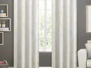 84 x54  Twig Insulated Woven Blackout Grommet Top Window Curtain Panel Vanilla   Exclusive Home