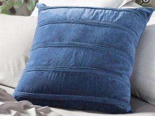Navy Brassell Velvet Throw Pillow   set of 2