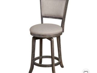 French Country Swivel Counter Height Barstool   Weathered Gray