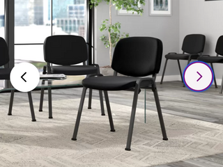 Black lavallee Elegant Guest Chair  Set of 5