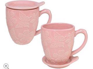 Temp tations All a Flutter Set of 2 Mugs   lAVENDER