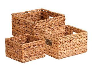 Honey Can Do 3pc Nesting Natural Baskets
