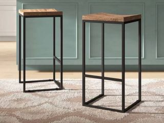 Solid Wood Counter Stool  set of 2  30a