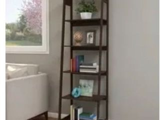 Hastings Home 5 Tier Freestanding Bookcase   Brown