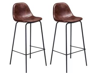 Neil Bar   Counter Stool  Set of 4  Tobacco