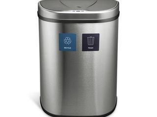 Nine Stars 18 5 Gal   70 l Motion Sensor Trash Can  Fingerprint Resistant Stainless Steel