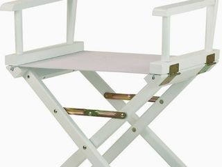 Casual Home 18  White Finish Director s Chair   set of 2 white with white finish