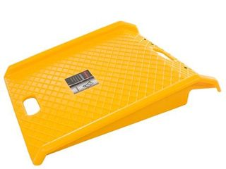 Curb Ramp Portable Poly Ramp With 1000lbs Weight Capacity For Delivery  Hand Truck  Carts  Wheelchairs  and Walkers by Stalwart  Yellow