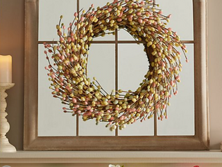 24  Pastel Pussy Willow Wreath by Valerie