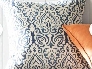Plumerville Square Cotton Pillow Cover   Insert