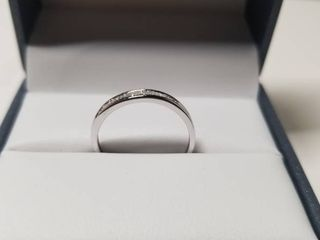 10K White and Yellow Gold 1 4ct TDW White Diamond Channel Band