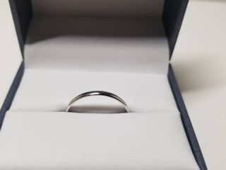 Divina 10KT White and Yellow Gold 2 millimeter Plain Boxed Wedding Band