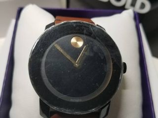 Movado Bold leather Mens Watch  Retail 349 99