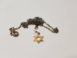 14k Yellow Gold Children s  Star of David  Necklace  Retail 79 98