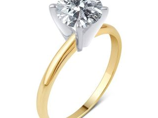 Divina 14KT Gold 1 3 4ct TDW Certified Round Diamond Solitaire Engagement Ring  Retail 2591 98