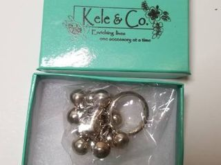 Kele   Co Sterling Silver Multi ball Ring  Retail 116 99