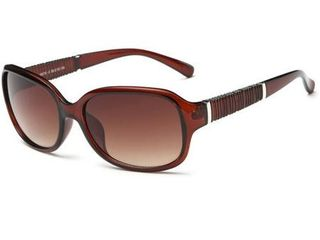 Chestnut Frame Acetate Square Sunglasses with Tawny lens