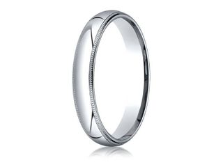 Platinum 4mm Slightly Domed Traditional Oval Ring with Milgrain  Retail 485 99