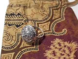 Handmade Sterling Silver Balinese Princess Ring  Indonesia