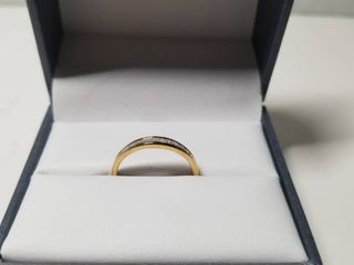 10K White and Yellow Gold 1 4ct TDW White Diamond Channel Band  Retail 162 99