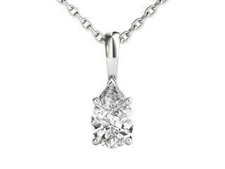 Seraphina 14k Gold 0 30ct TDW Pear Cut Diamond Pendant Necklace  Retail 1207 49