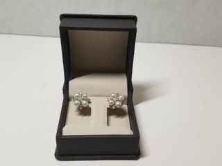 DaVonna 14k White Gold Cultured Pearl Flower Stud Earrings  4 5 mm  Retail 325 49