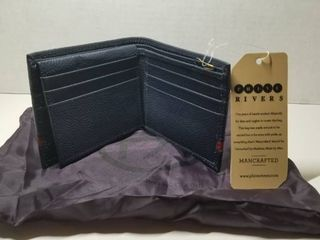 Handmade Phive Rivers Men s leather Navy Wallet  Italy    Small
