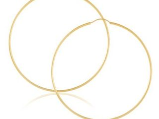 14K Gold Endless Hoop Earrings 1 1 5mm Thick 10mm 60mm Diameters   Yellow Gold   Yellow Gold  Retail 268 49