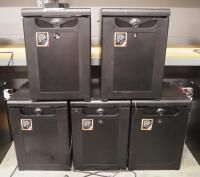 Smart Cube Mini Bar AG Model SC40  Qty 5  Includes 3 Keys  Unknown Working Condition