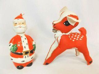 lefton Santa  Vintage Reindeer