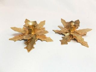Brass Holiday Candle Holders  2  India