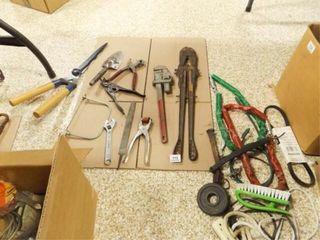 Shop   Yard Tools  Etc    1 box