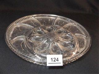 Deviled Egg   Relish Glass Platter  13